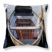 Rowboats At The Schlachtensee Throw Pillow