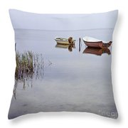 Rowboats On Nonnensee Throw Pillow