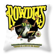 Rowdies Old School Throw Pillow