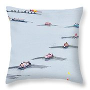 Rowers Arc-natural Throw Pillow