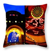 Rowes Wharf Christmas Throw Pillow