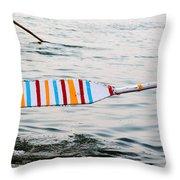 Rowing Oar Throw Pillow
