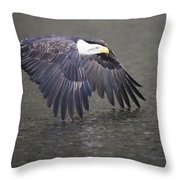 Rowing The River Throw Pillow