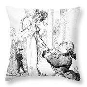 Rowlandson: Cartoon, 1810 Throw Pillow