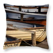 Rownoats At The Schlachtensee Throw Pillow