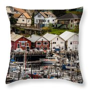 Rows Of Houses And Sails Throw Pillow