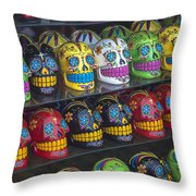 Rows Of Skulls Throw Pillow