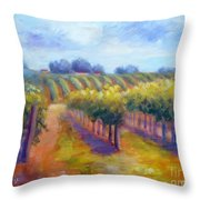 Rows Of Vines Throw Pillow