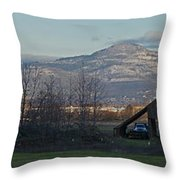 Roxy Ann And Mt Mclaughlin Throw Pillow