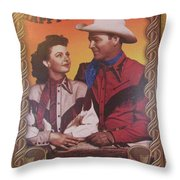 Roy And Dale Throw Pillow