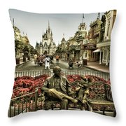 Roy And Minnie Mouse Antique Style Walt Disney World Throw Pillow