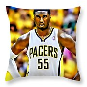 Roy Hibbert Throw Pillow by Florian Rodarte