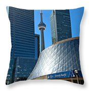 Roy Thomson Hall And Cn Tower Throw Pillow