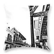 Royal Afternoon Monochrome Throw Pillow