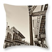 Royal Afternoon Sepia Throw Pillow