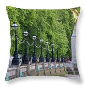 Royal Air Force Memorial By The River Thames 5801 Throw Pillow
