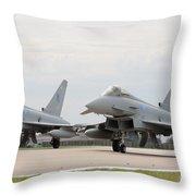Royal Air Force Typhoon Aircraft  Throw Pillow