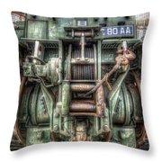 Royal Army Bulldozer Throw Pillow by Yhun Suarez