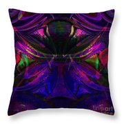 Royal Blue And Amethyst Throw Pillow