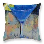 Royal Blue Martini Throw Pillow