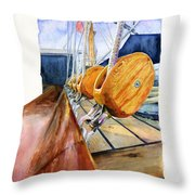 Royal Clipper Ships Tackle Throw Pillow