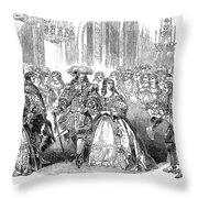Royal Costume Ball, 1851 Throw Pillow