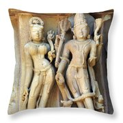 Royal Couple In Stone Throw Pillow