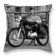 Royal Enfield Goes Berlin Throw Pillow