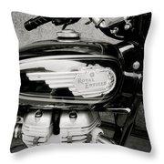 Royal Enfield Motorbike Throw Pillow