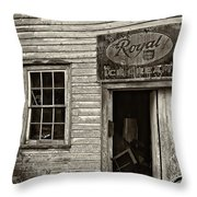 Royal Ice Cream Sepia Throw Pillow
