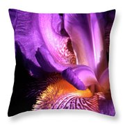 Royal Iris Throw Pillow