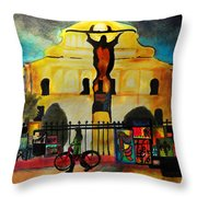 Jesus And Bourbon Throw Pillow