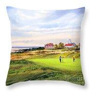 Royal Liverpool Golf Course Hoylake Throw Pillow