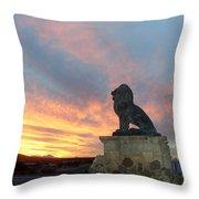 Royal Loin Statue Throw Pillow