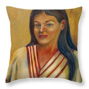 Royal Maiden Xochitl Throw Pillow
