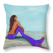Royal Mermaid Throw Pillow