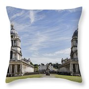 Royal Naval College Courtyard Throw Pillow