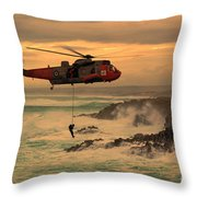 Royal Navy Rescue  Throw Pillow