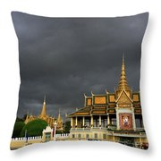 Royal Palace Cambodia Throw Pillow