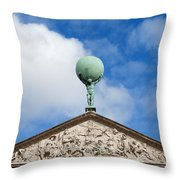 Royal Palace In Amsterdam Architectural Details Throw Pillow