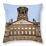 Royal Palace In Amsterdam Throw Pillow