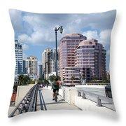 Royal Palm Way Bridge Throw Pillow