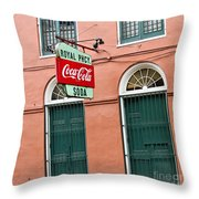 Royal St. Pharmacy Throw Pillow