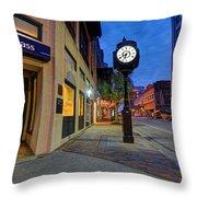 Royal Street Clock Throw Pillow