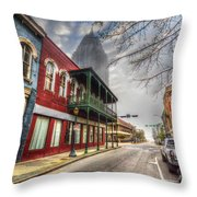 Royal Street Mist V2 Throw Pillow