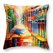 Royal Street Reflections Throw Pillow