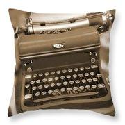 Royal Typewriter Throw Pillow