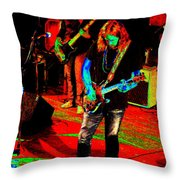 Rrb #17 Enhanced In Cosmicolors Throw Pillow
