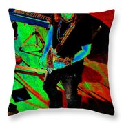 Rrb #19 Enhanced In Cosmicolors Throw Pillow