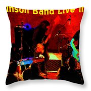Rrb #47 Crop 2 Enhanced In Cosmicolors With Text Throw Pillow